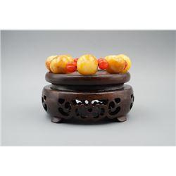 """Buddha"" Amber Bead Bracelet"