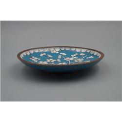 "A Small Japanese Bronze Matrix ""Sakura"" Plate."