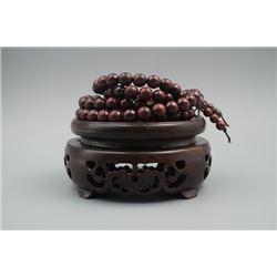 A Pterocarpus Santalinus 108 Beads Prayer Necklace.
