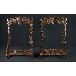 Two Rosewood Frames.