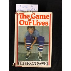 """WAYNE GRETZKY SIGNED """"THE GAME OF OUR LIVES"""" HOCKEY BOOK"""