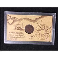 186 YEAR OLD SHIPWRECK COIN (1809)