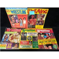 VINTAGE WRESTLING MAGAZINES LOT (1974-75)