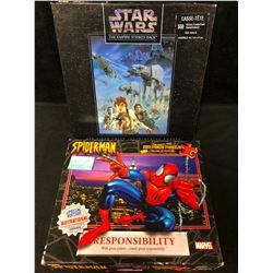 VINTAGE PUZZLES LOT (STAR WARS/ SPIDERMAN)