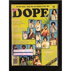 1976 INSIDE DOPE MAGAZINE (PREMIERE ISSUE COLLECTOR'S EDITION VOL.1/ NO.1) **RARE**