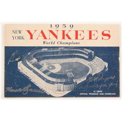 "Bob Turley, Gil McDougald, Hank Bauer Signed 1959 Yankees Program""1951 Rookie of the Year"" (JSA COA)"
