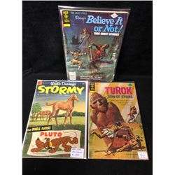 VINTAGE COMIC BOOK LOT (BELIEVE IT OR NOT/ STORMY/ TUROK SON OF STONE)