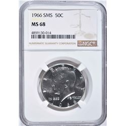 1966 SMS KENNEDY HALF DOLLAR NGC