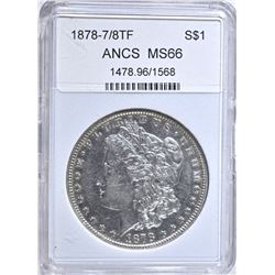 1878-7/8TF MORGAN D0LLAR STRONG ANGS SUPERB GEM BU