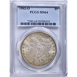 1902-O MORGAN DOLLAR, PCGS MS-64