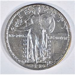 1920-D STANDING LIBERTY QUARTER, XF/AU