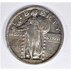 1921 STANDING LIBERTY QUARTER, VF FULL DATE RARE!!