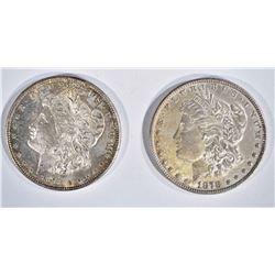 1878 & 78-S CH BU MORGAN DOLLARS