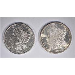 1879 & 80-S CH BU MORGAN DOLLARS