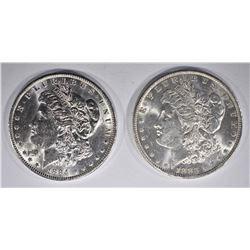 1883-O & 84-O CH BU MORGAN DOLLARS