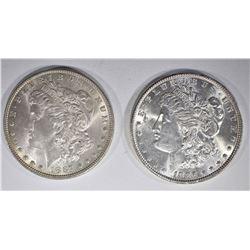 1886 & 87 CH BU MORGAN DOLLARS