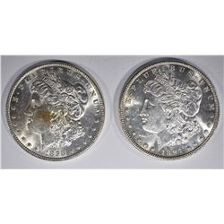 1897 & 98 CH BU MORGAN DOLLARS