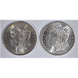 1886 & 1902-O CH BU MORGAN DOLLARS