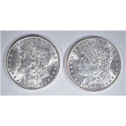 1887 & 1885-O CH BU MORGAN DOLLARS