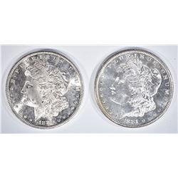 2 - CH BU MORGAN DOLLARS: 1881-S PL & 1880-S