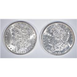 1882-S & 1902-O CH BU MORGAN DOLLARS