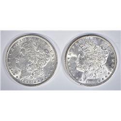 1885-O & 1896 CH BU MORGAN DOLLARS