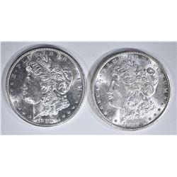 2 - CH BU MORGAN DOLLARS: 1899-O & 1882-S