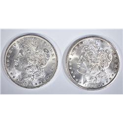 1899-O & 1885-O CH BU MORGAN DOLLARS