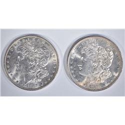 2 - CH BU MORGAN DOLLARS: 1882-S & 1887