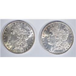 1884-O & 1887 CH BU MORGAN DOLLARS