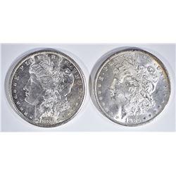 2 - CH BU MORGAN DOLLARS: 1885-O & 1881-S