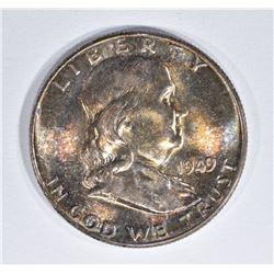 1949 FRANKLIN HALF DOLLAR  GEM BU FBL