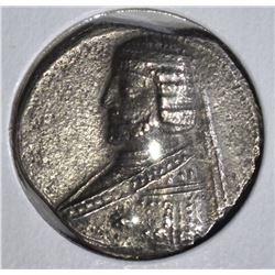 70-58 BC SILVER DRACHM PHRAATES II