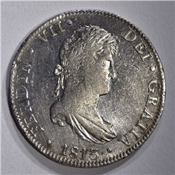 1813 MO SILVER 8 REALES MEXICO