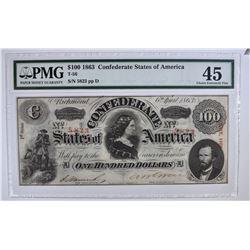 1863 $100 CONFEDERATE STATES OF AMERICA