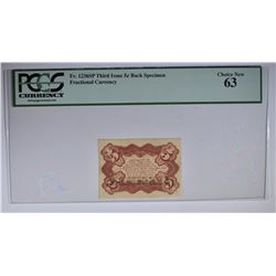 1863 5 CENT 3RD ISSUE FRACTIONAL CURRENCY