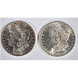 1881-O & 83-O CH BU MORGAN DOLLARS