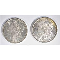 1884-O & 85-O CH BU MORGAN DOLLARS