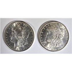 1885-O & 96 CH BU MORGAN DOLLARS
