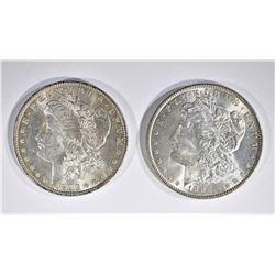 1886 & 98 CH BU MORGAN DOLLARS