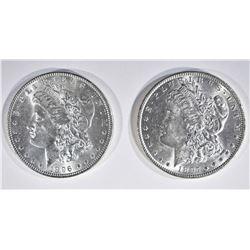 1896 & 97 CH BU MORGAN DOLLARS