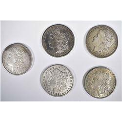 5-MORGAN DOLLARS: