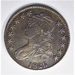 1826 BUST HALF DOLLAR, CH BU