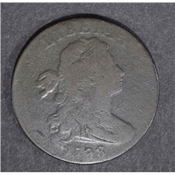 1798 DRAPED BUST LARGE CENT, G/VG