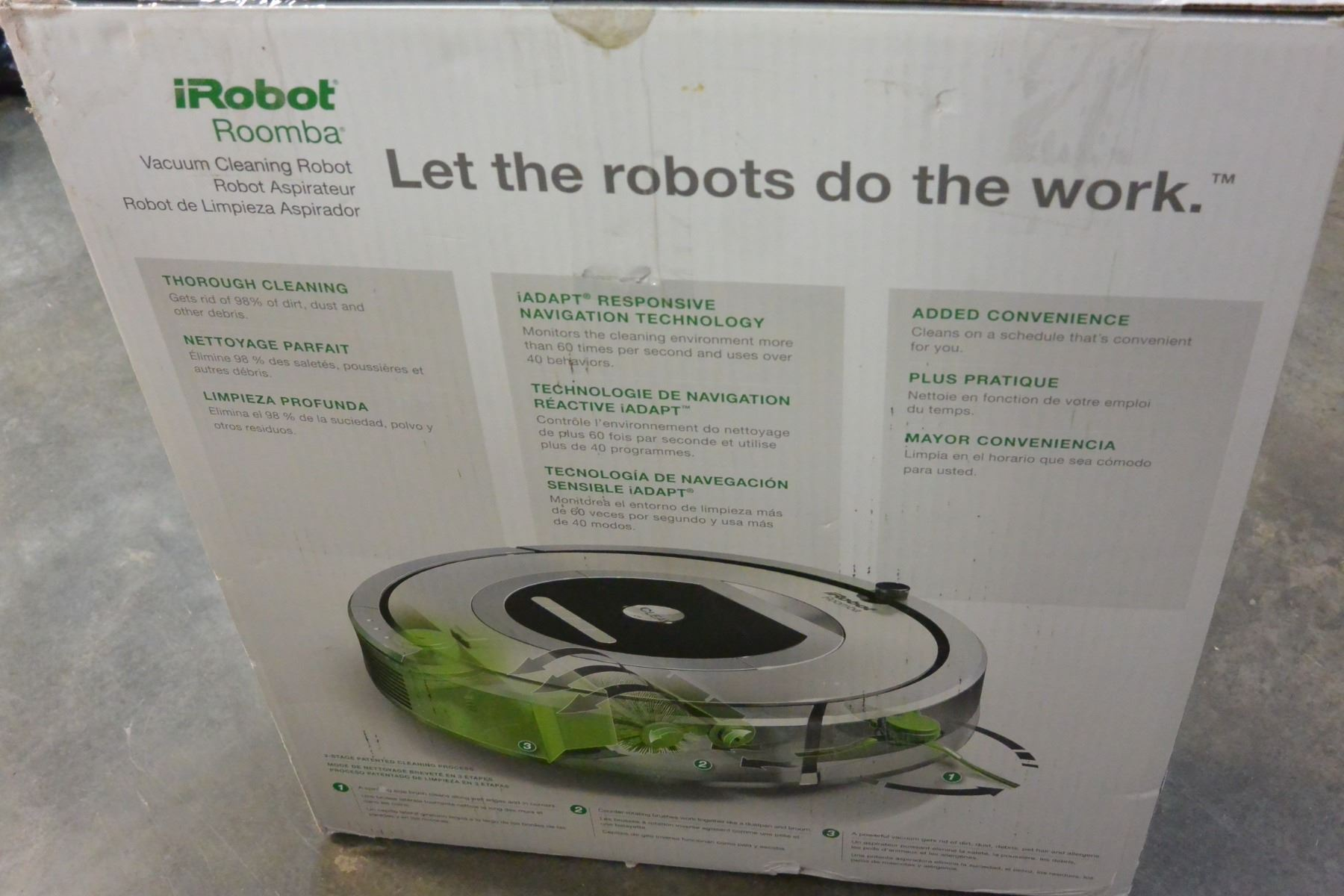 OPEN BOX IROBOT ROOMBA 761, TESTED, WORKING RETAIL $599
