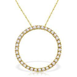 Genuine 0.52 ctw Diamond Anniversary Necklace Jewelry 14KT White Gold - REF-70K4V