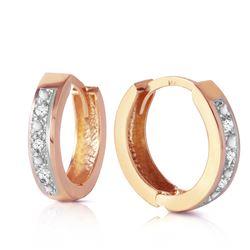 Genuine 0.04 ctw Diamond Anniversary Earrings Jewelry 14KT Rose Gold - REF-45H8X