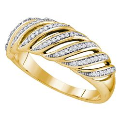 0.18 CTW Diamond Ring 10KT Yellow Gold - REF-22M4H