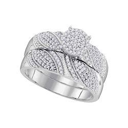 0.40 CTW Diamond Milgrain Bridal Wedding Engagement Ring 10KT White Gold - REF-44M9H