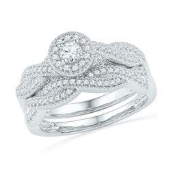 0.50 CTW Diamond Bridal Wedding Engagement Ring 10KT White Gold - REF-52Y4X